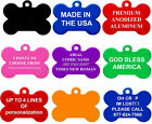 Double Sided Personalized ID Dog Cat Custom Name Engraved Pet Identification Tag