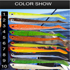 10PC Fishing Lures 7.5cm/2.8g Plastic  Bass Baits Lures Best Selling 10 Colors