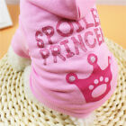 Small Dog/Cat Clothes for Girl Princess T Shirt Pet Hoodie Pink Crown Print NICE
