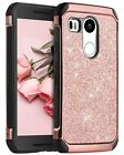 LG Google Nexus 5X Case Luxury Glitter Woman Hybrid Slim Hard Covers Shockproof