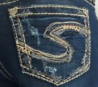 """New Silver Jeans SUKI 17"""" Mid-Rise Bootcut Relaxed Hip&Thigh"""