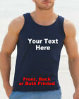Personalised Mens Printed Vest Customised Vest Top Stag Vest Top S - 3XL