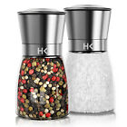 Salt and Pepper Hand Grinder Mill Brushed Stainless Steel Glass Bottle Spices