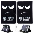 """Universal For 8"""" Inch Tablet Pattern PU Leather Folio Stand Cover Case Protector"""