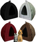 New Pet Igloo Dog Cat Bed House Kennel Doggy Fashion Cushion Pad With Mat