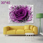 LARGE MODERN PURPLE ROSE FLOWERS Canvas Print Pictures Wall Art Prints Unframed <br/> Unframed☆Promtion Price☆Fast Free Delivery☆
