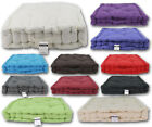Adult Chunky Booster Cushion 100% Cotton Armchair Seat Pad For Garden & Dining