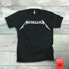 Metallica Hand Drawn Logo Distressed Mens T-shirt-Tee-Rock N Roll-T-shirt image