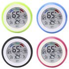 LCD Touch Screen Round Shape Digital Electronic Temperature Humidity Monitor#T