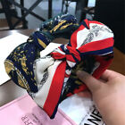 Womens Lady Striped Print Headband Wide Big Bow Knot Hairband Party Gift