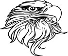 Eagle Head vinyl decal - For Cars, Laptops, Sticker, Mirrors, etc.