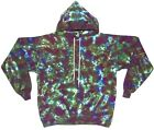 Adult TIE DYE Olive Blotter Hoodie Sweatshirt hippie small medium large XL 2X 3X