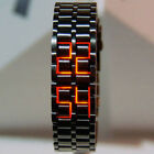 Digital Wristwatch Fashion Stainless Steel LED Sports Simple Men Watches Black