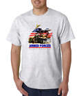 USA Made Bayside T-shirt Armed Forces Because Freedom Isn't Free Patriotic