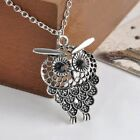 Jewelry Gift Bijoux Hollow Out Sweater Chain Owl Pendant Necklace Long Chain
