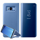 Case for Samsung Galaxy S7 S8 Plus Note 8 Smart View Mirror Flip Stand Cover UK