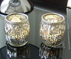Moroccan VINTAGE LACE Tea Light Candle Holder Glass Wedding Gift SILVER