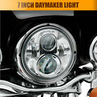 """7"""" LED Chrome Projector Daymaker Headlight For Harley Davdison Softail Touring"""