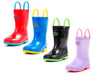 Outee Toddler Kids Boys Girls Lightweight Rain Boots baby Ju