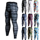 Men's Compression Pants Running Basketball Gym Long Tights Wicking Camo Dri fit