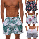 Mens Beach Boards Shorts Swimming Trunks Bathing Underpants Floral Print Pockets
