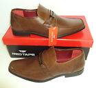 RED TAPE Nevis Mens Leather Tan Slip On Casual Formal Shoes New Sizes 7-11