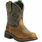 10021462 Ariat Fatbaby Women's Heritage Round Toe Cowgirl Boots Brown Turquoise