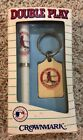 NIB Vintage 1992 St Louis Cardinal Crown mark Double Play Key Chain Pen MLB