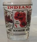 INDIANA The hoosier State shot glass ... red black lettering
