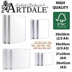 Artdale 12 Packs Blank Canvas Acrylic Primed Stretched Cotton Artists Art Craft