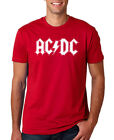 ACDC LOGO RED MEN T SHIRT MUSIC ROCK PUNK RETRO AC DC HEAVY 80s