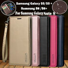 Hanman Real Leather Wallet Magnetic Flip Case Cover For Samsung Galaxy S9/S9Plus