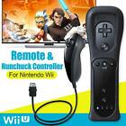 Built in Vibrate Motion Plus Remote Controller And Nunchuck For Nintendo Wii