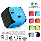 Universal Travel Adapter Converter World Plug Outlet AC Power Dual USB Charger
