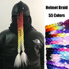 1 pcs Gradient Ramp Helmet Decorate Braids / Ponytail Motorcycle Helmet Hair