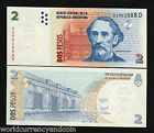 ARGENTINA 2 PESOS P346 1997 MUSEUM UNC LATINO CURRENCY MONEY BILL BANK NOTE