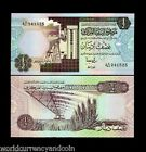 LIBYA 1/2 DINARS P58C 1991 BUNDLE OIL REFINERY UNC CURRENCY PACK 50 BILL NOTES