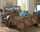 8PC Printed Comforter Set Fashionable Design Fade Resistant Queen King CalKing image