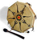 Tribe Drum - Octagonal Shaman Style Drum with Hide Head (3 sizes when available)