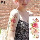 Sexy Hot Women Large Flowers Floral Rose Waterproof Temporary Fake Tattoo Body