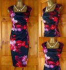NEW EX DOROTHY PERKINS MIDNIGHT BLUE RED PINK FLORAL SUMMER DRESS UK SIZE 10-18