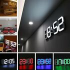 3D Number LED Digital Alarm Clock Snooze Wall Clock Dimmable Table Clock LN