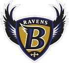 Baltimore Ravens Shield Logo NFL Color Die Cut Vinyl Decal cornhole car wall new $8.99 USD on eBay