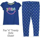 NWT Crazy 8 AHOY WHALES Girls Size 3T Leggings Tee Shirt Top 2-PC OUTFIT SET New