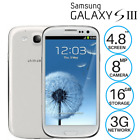 Brand New Unlocked Samsung Galaxy S3 III i9300 Black White Blue Android Phone
