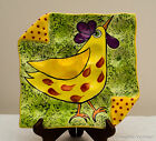 USA-Made Hand-Painted Stoneware Kitchen Pieces w/ Roosters by Peg's Ceramics