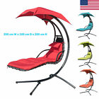 Finether Hanging Chaise Lounger Chair Arc Stand Porch Patio Swing Hammock Canopy