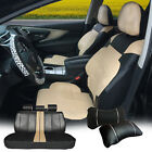 Full 5 Seats PU Leather Cushion Cover+2 Pillows Compatible to Dodge 53255 Bk/Tan $69.95 USD on eBay