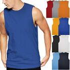 Mens Muscle Tank Top Shirts Cotton Sleeveless Gym Tee workout Casual A-Shirt  image