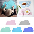 Kids Children Silicone Cloud Shaped Kitchen Placemat Pad Dining Table Mat